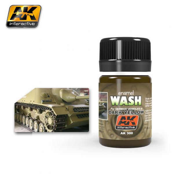 AK-Interactive: (Weathering) WASH FOR DARK YELLOW VEHICLES