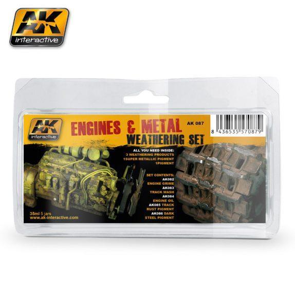 AK-Interactive: (Weathering) ENGINES AND METAL WEATHERING SET