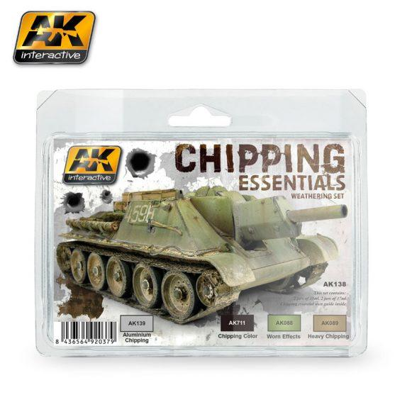 AK-Interactive: (Weathering) CHIPPING ESSENTIALS WEATHERING SET