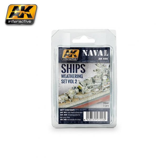 AK-Interactive: (Weathering) SHIPS VOL.2 WEATHERING SET