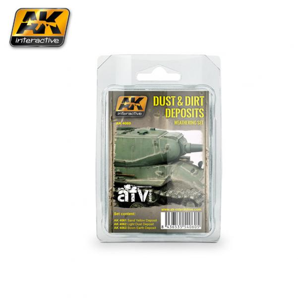 AK-Interactive: (Weathering) DUST AND DIRT DEPOSITS WEATHERING SET
