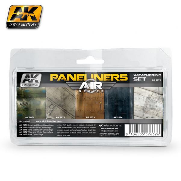 AK-Interactive: (Weathering) PANELINERS WEATHERING SET
