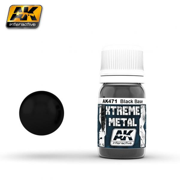 AK-Interactive: (Metalics) XTREME METAL BLACK BASE 30ml