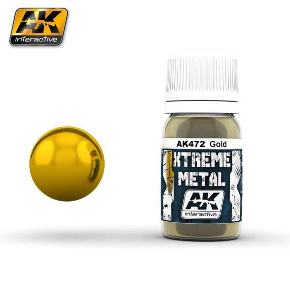 AK-Interactive: (Metalics) XTREME METAL GOLD 30ml