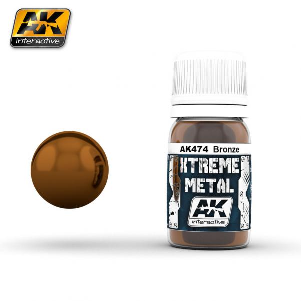 AK-Interactive: (Metalics) XTREME METAL BRONZE 30ml
