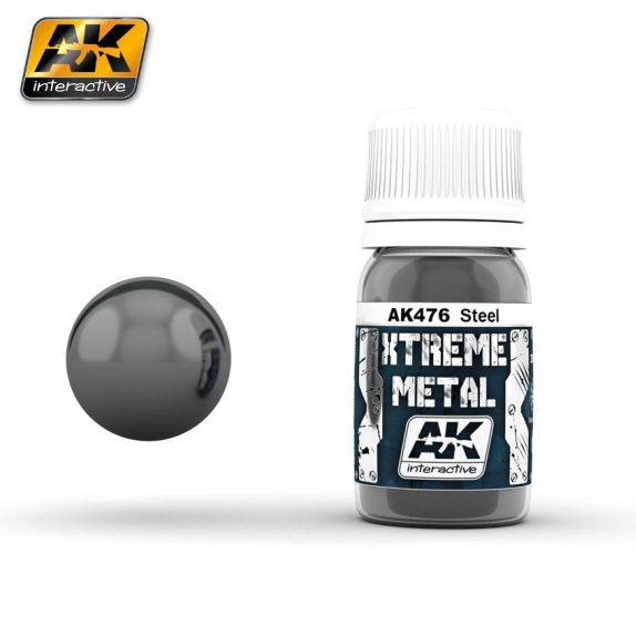 AK-Interactive: (Metalics) XTREME METAL STEEL 30ml