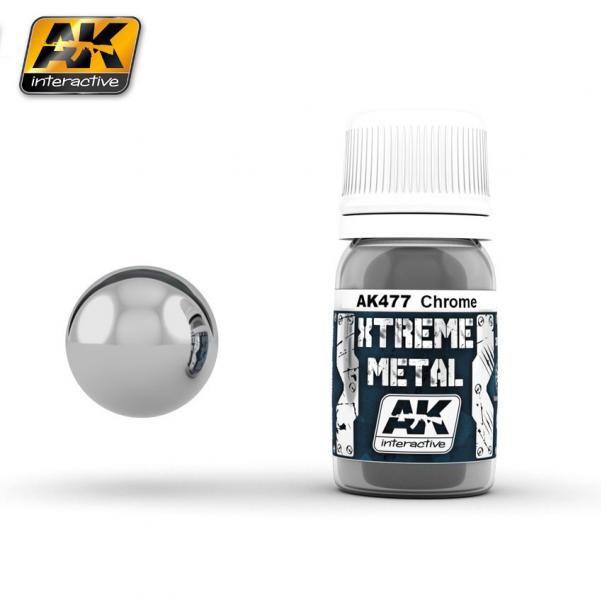 AK-Interactive: (Metalics) XTREME METAL CHROME 30ml