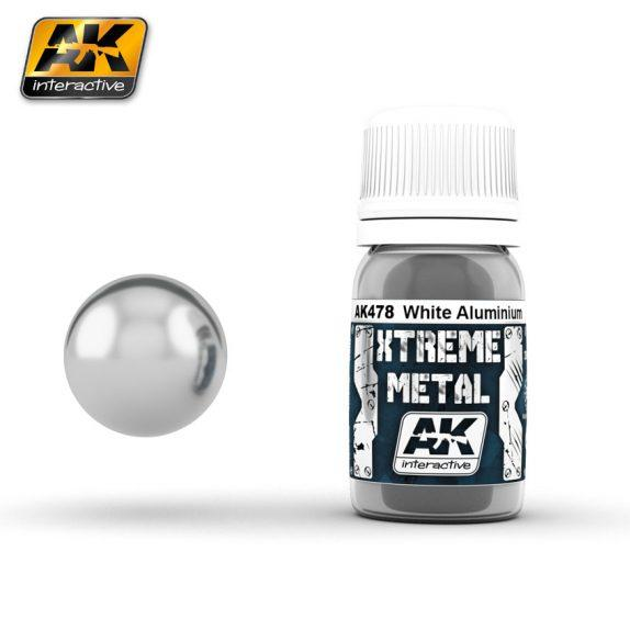 AK-Interactive: (Metalics) XTREME WHITE ALUMINIUM 30ml