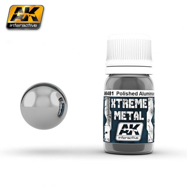 AK-Interactive: (Metalics) XTREME METAL POLISHED ALUMINIUM 30ml