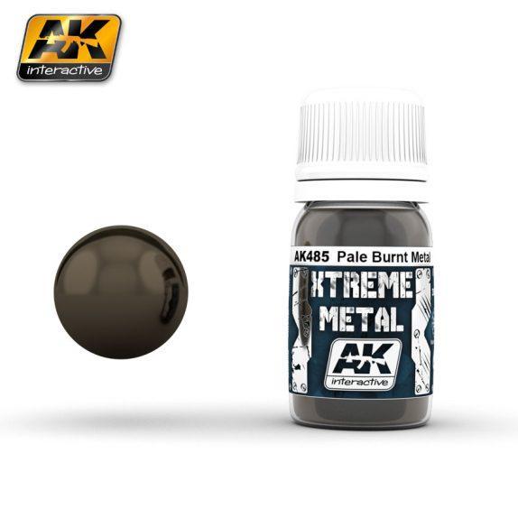 AK-Interactive: (Metalics) XTREME METAL PALE BURNT METAL 30ml