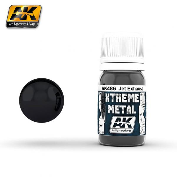 AK-Interactive: (Metalics) XTREME METAL JET EXHAUST 30ml