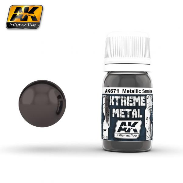 AK-Interactive: (Metalics) XTREME METAL SMOKE METALLIC 30ml