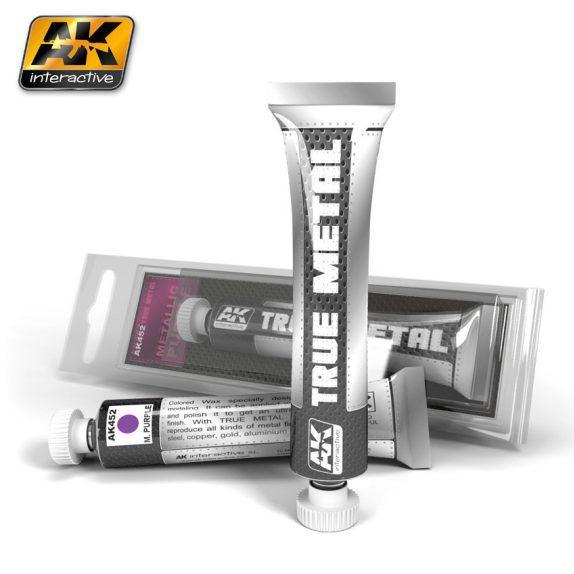 AK-Interactive: (True Metal Wax-base) TRUE METAL METALIC PURPLE
