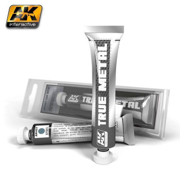 AK-Interactive: (True Metal Wax-base) TRUE METAL STEEL