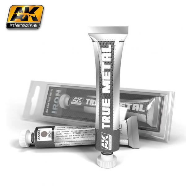 AK-Interactive: (True Metal Wax-base) TRUE METAL IRON