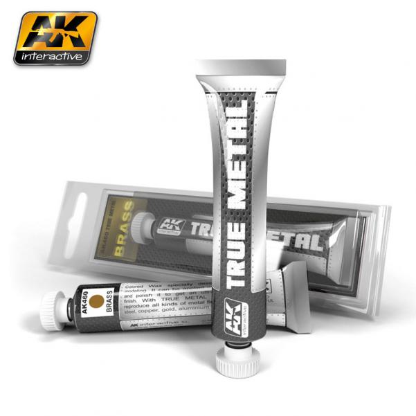 AK-Interactive: (True Metal Wax-base) TRUE METAL BRASS