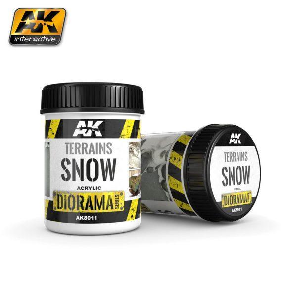 AK-Interactive: (Texture) TERRAINS SNOW - 250ml (Acrylic)