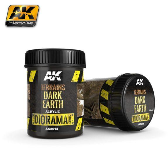 AK-Interactive: (Texture) TERRAINS DARK EARTH - 250ml (Acrylic)