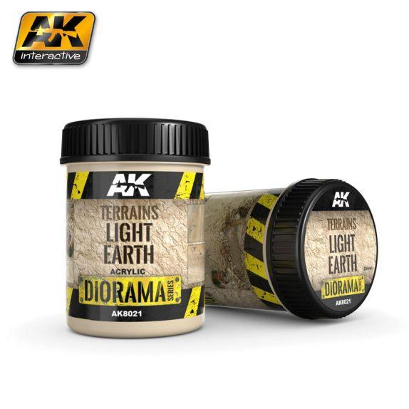 AK-Interactive: (Texture) TERRAINS LIGHT EARTH - 250ml (Acrylic)
