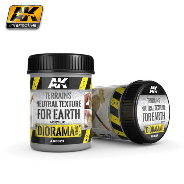 AK-Interactive: (Texture) TERRAINS NEUTRAL TEXTURE - 250ml (Acrylic)