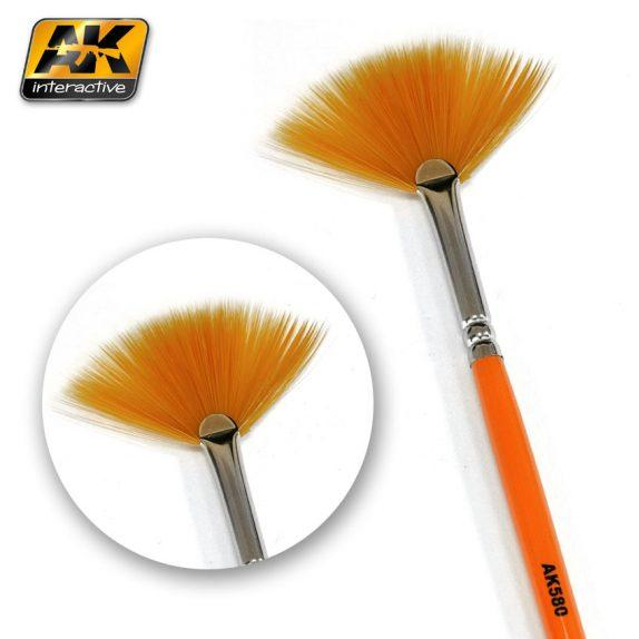 AK-Interactive: (Brushes) WEATHERING BRUSH FAN SHAPE