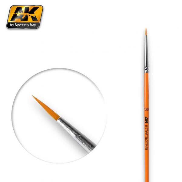 AK-Interactive: (Brushes) ROUND BRUSH 3/0 SYNTHETIC
