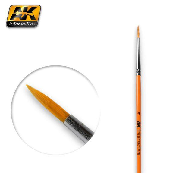 AK-Interactive: (Brushes) ROUND BRUSH 4 SYNTHETIC