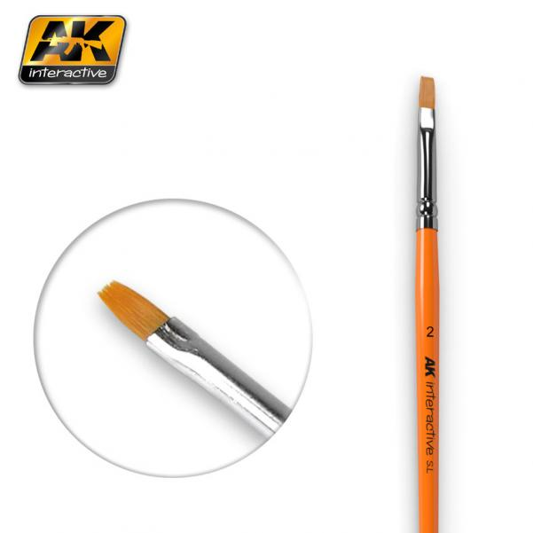 AK-Interactive: (Brushes) FLAT BRUSH 2 SYNTHETIC