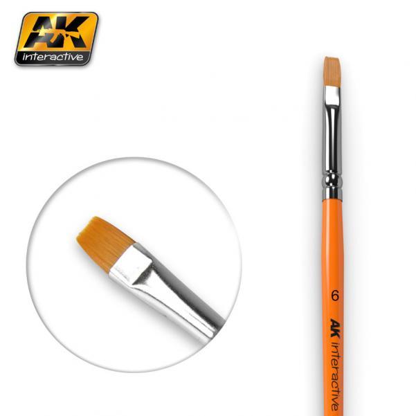 AK-Interactive: (Brushes) FLAT BRUSH 6 SYNTHETIC