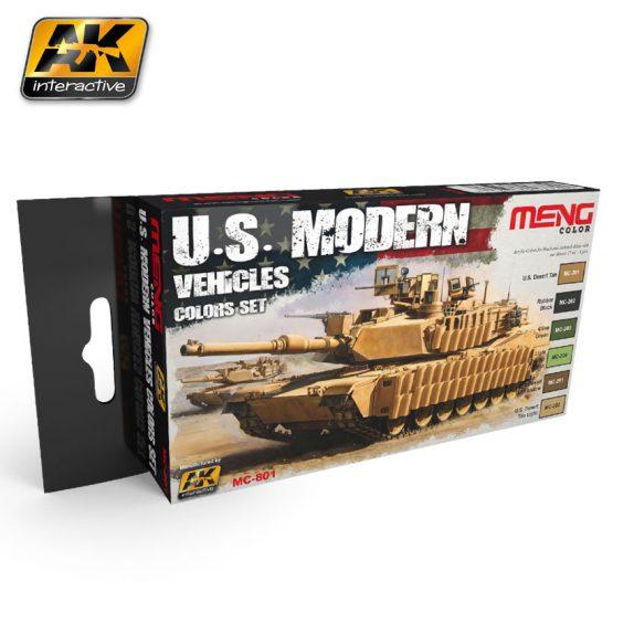 AK-Interactive: (Acrylic) MENG U.S. MODERN VEHICLES COLORS SET