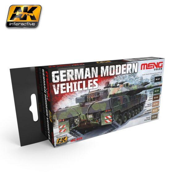 AK-Interactive: (Acrylic) MENG GERMAN MODERN VEHICLES COLORS SET
