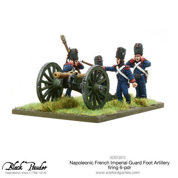 Black Powder: (Napoleonic) French Imperial Guard Foot Artillery, 6-pdr Cannon