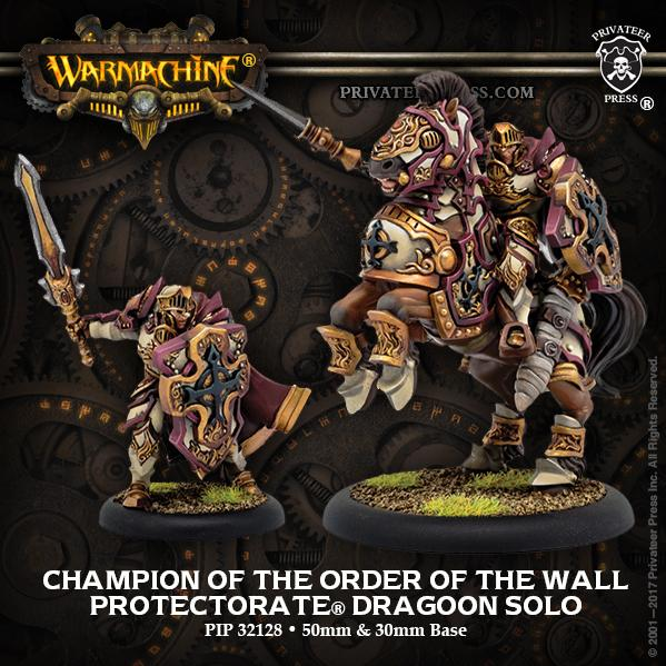 Warmachine: (The Protectorate Of Menoth) Champion of the Order of the Wall Dragoon (resin/metal)