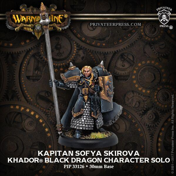 Warmachine: (Khador) Kapitan Sofia Skirova - Black Dragon Solo (resin/metal)