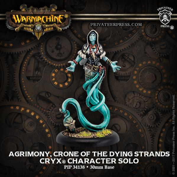 Warmachine: (Cryx) Agrimony, Crone of the Dying Strands (metal)