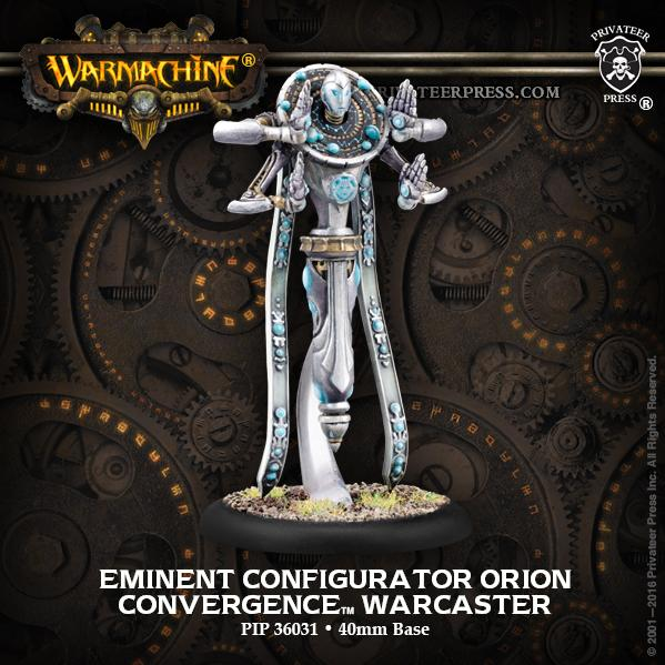 Warmachine: (Convergence Of Cyriss) Eminent Configurator Orion - Warcaster (metal)