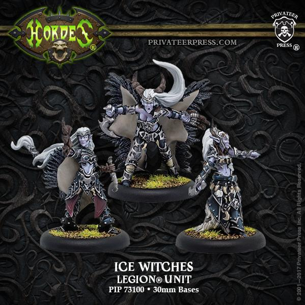 Hordes: (Legion Of Everblight) Ice Witches (3) (resin/metal)