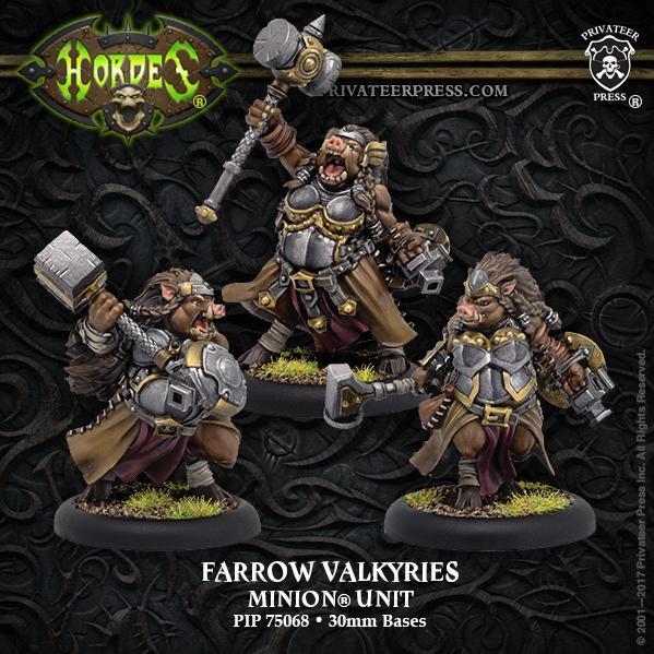 Hordes: (Minions) Farrow Valkyries (3) (resin/metal)
