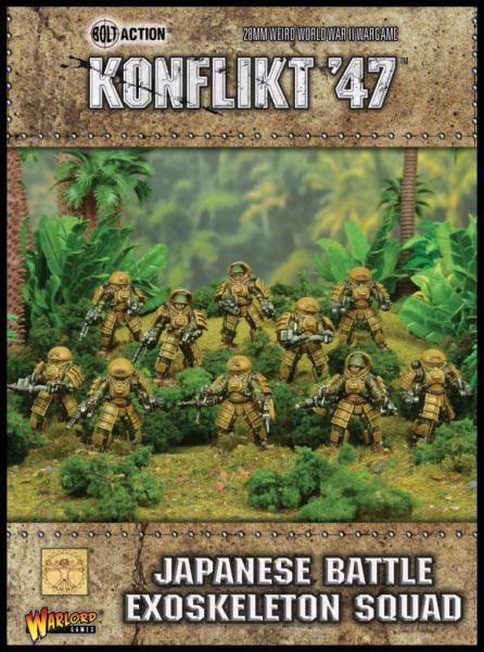 Bolt Action (Konflikt '47) Japanese Battle Exoskeleton Squad
