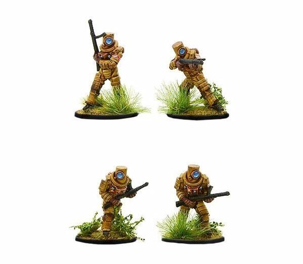 Bolt Action (Konflikt '47) Japanese Ghost Warriors with SMG