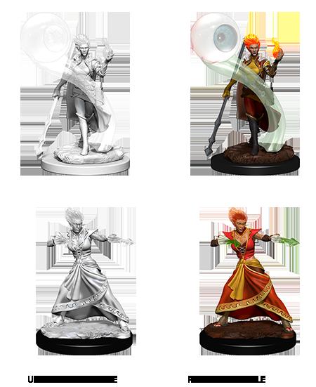 D&D Nolzurs Marvelous Unpainted Minis: Fire Genasi Female Wizard