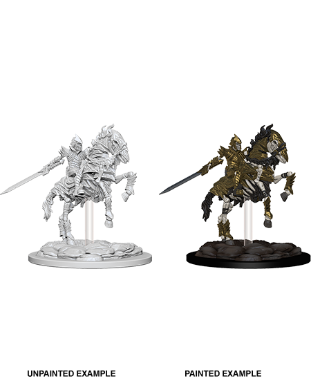 Pathfinder Deep Cuts Unpainted Miniatures: Skeleton Knight on Horse