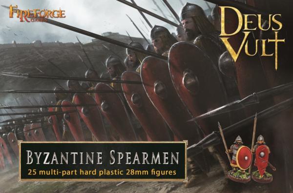 28mm Deus Vult: Byzantine Skoutatoi Spearmen (25)