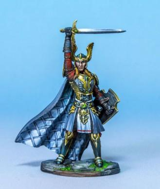 Visions In Fantasy: Male Paladin with Sword and Shield