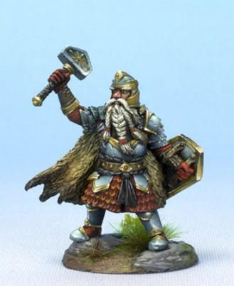Visions In Fantasy: Male Dwarven Cleric with Warhammer