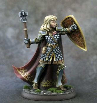 Visions In Fantasy: Female Cleric with Mace and Shield