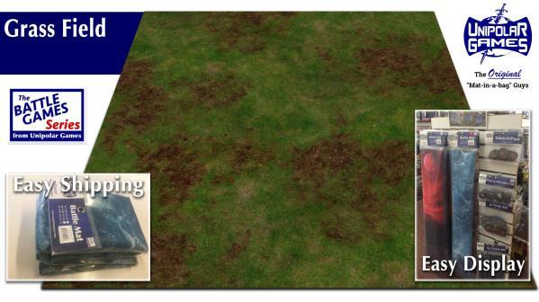 Game Play Mats: Grass Field Terrain 6' x 4'
