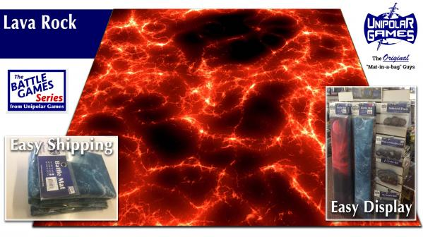 Game Play Mats: Lava Rock Terrain 6' x 4'