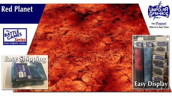 Game Play Mats: Red Planet Terrain 6' x 4'