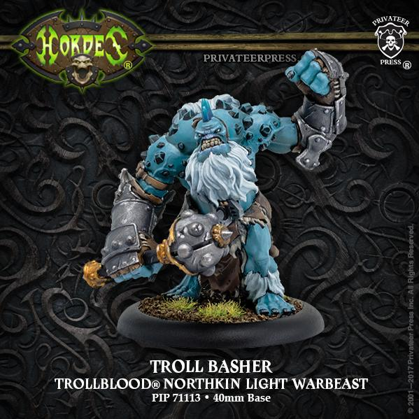 Hordes: (Trollbloods) Troll Basher - Trollblood Light Warbeast (1) (resin/metal)